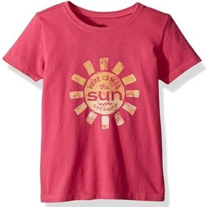 Life is Good Pink 2T Here Comes The Sun T-shirt